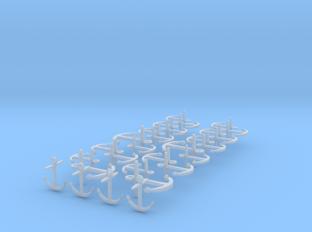 1/300 scale iron ship anchors 3d printed