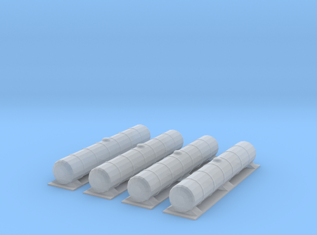 Bogey Tankers 4pack in Smooth Fine Detail Plastic