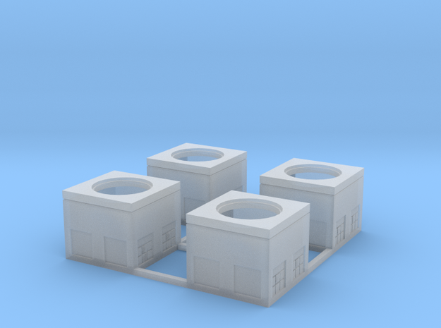 N-Scale Concrete Electrical Box (4 Pack) 3d printed