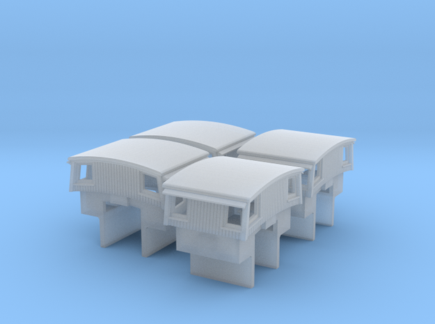 A34 N slant sided caboose cupola Athearn/MDC w/int 3d printed