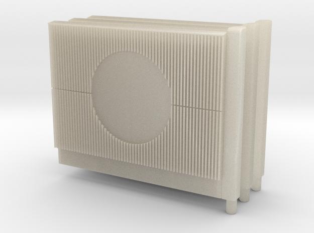 Beton Schallschutzwand mit Kreiselement 3x V1 1 st in White Acrylic