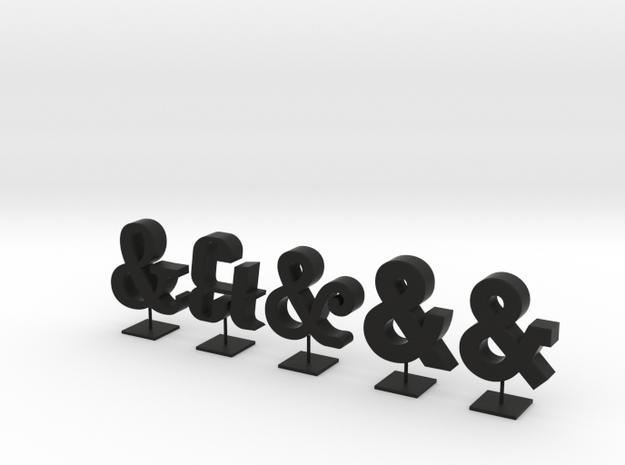 little ampersands 3d printed