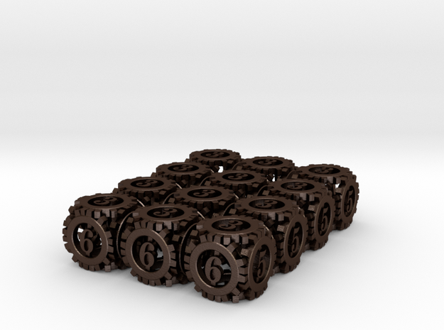 Steampunk Gear 12d6 Set 3d printed