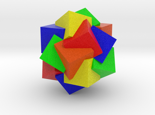 Compound of Twenty Cubes - Color in Full Color Sandstone