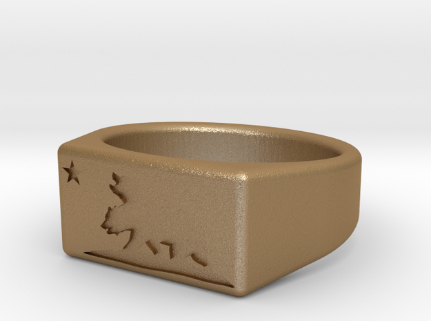 Size 6 - The New California Republic ring 3d printed