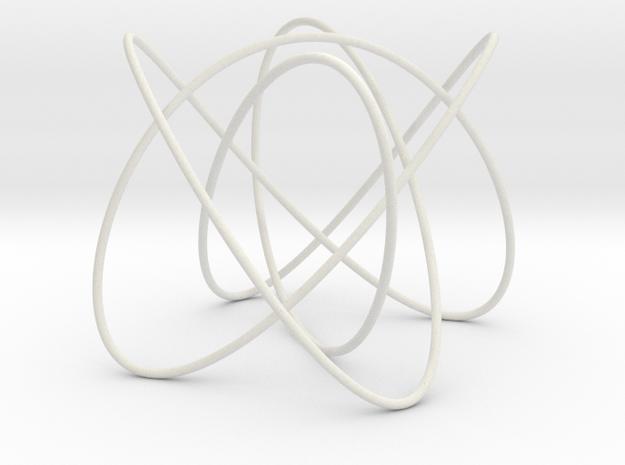 Lissajous (4, 3, 5) (0, π/2, 0) in White Natural Versatile Plastic