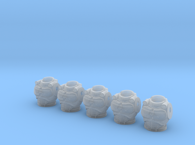 Autobot Male Torso 001a (x5) 3d printed