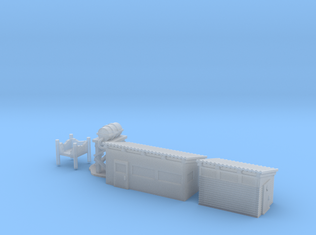 6mm Vietnam Shower and Latrine 3d printed