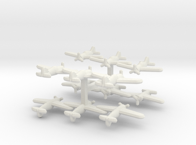 Brewster F2A Buffalo (Triplet) 1:900 x4 in White Natural Versatile Plastic