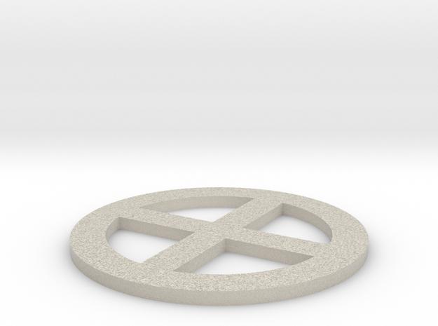 qc - 3in dia, thin 3d printed