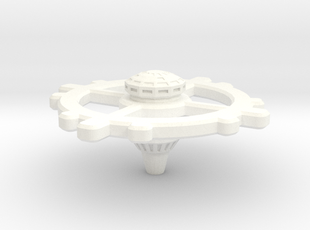 Romulan Space Station in White Strong & Flexible Polished