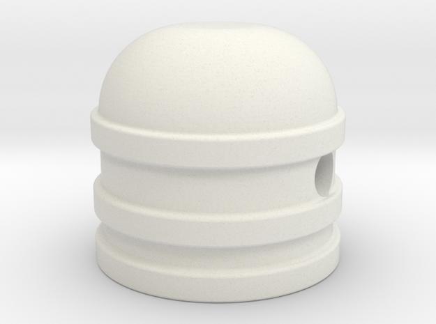 Dome style knob in White Natural Versatile Plastic