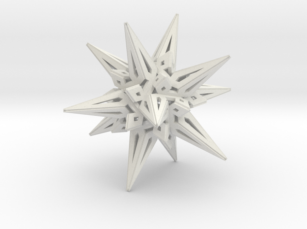 Stellated Icos in White Natural Versatile Plastic
