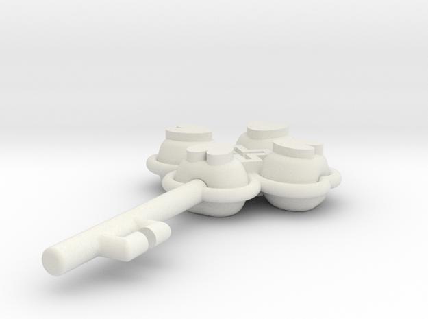 LLAVE in White Natural Versatile Plastic