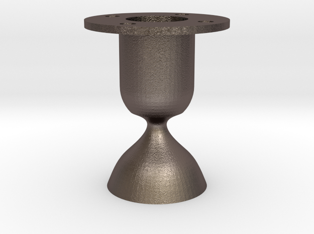 Laval. Rocket engine testing.  in Polished Bronzed Silver Steel
