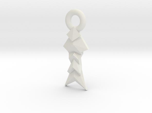 Origami Inspired: Angled Folds in White Natural Versatile Plastic