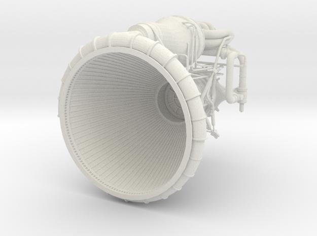 F1 3D Engine 1:25 Top in White Natural Versatile Plastic