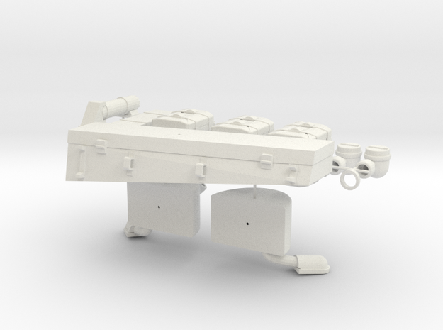 German 1:18 Sd.Kfz. 234/2 Puma Accessories in White Strong & Flexible