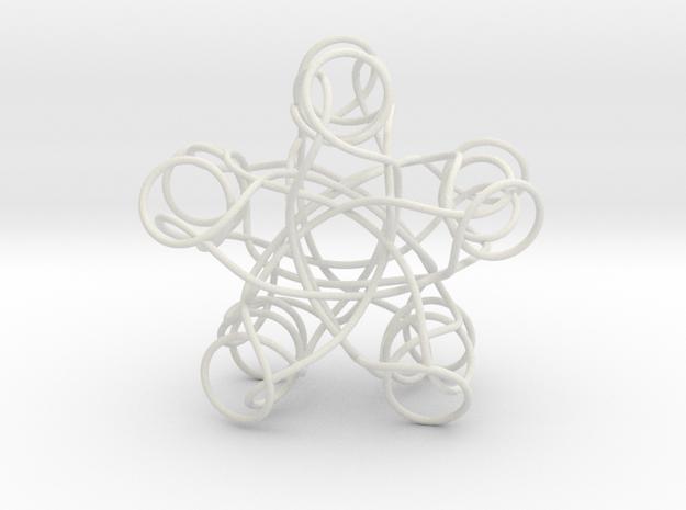 Pentagonal Knot in White Natural Versatile Plastic