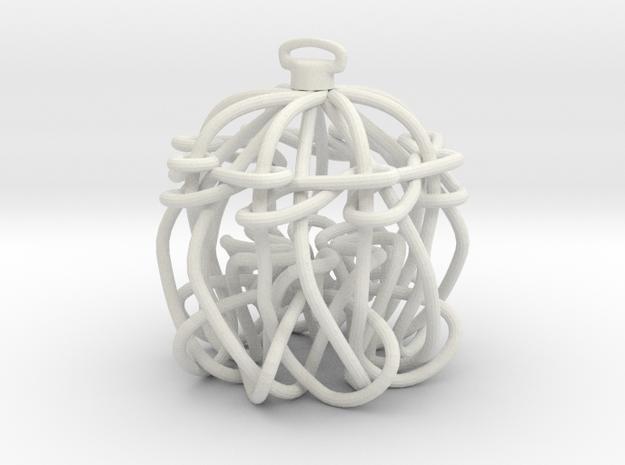 Knot Ornament in White Natural Versatile Plastic