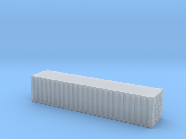 40ft Container Ribbed, (NZ120 / TT, 1:120) 3d printed