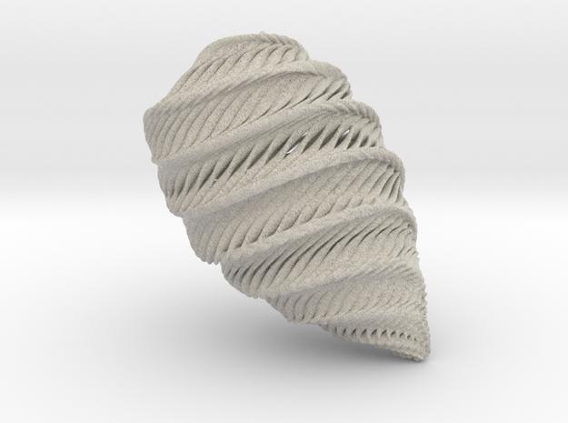 Mathematical Mollusca - Medium Rainbow Conch 3d printed