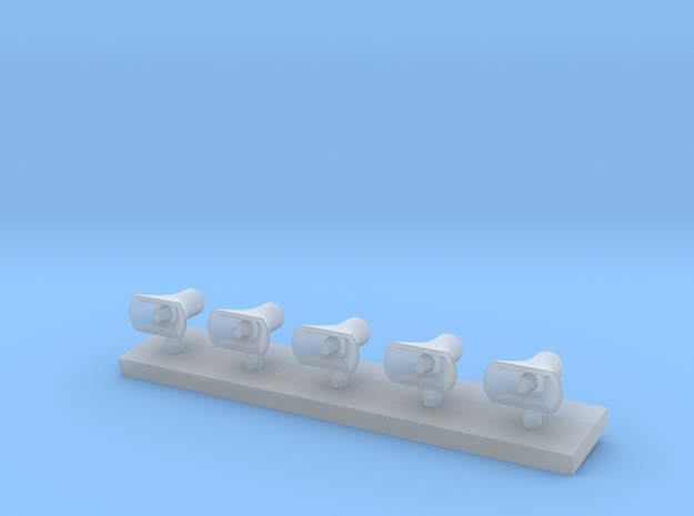 Druckkammerlautsprecher groß 5Stck  in Smooth Fine Detail Plastic