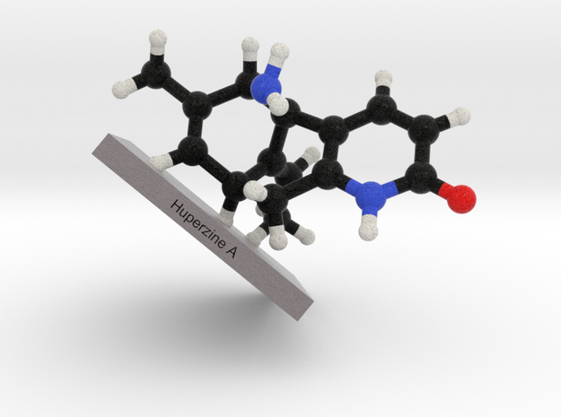 Huperzine A Molecule Model Mounted 3d printed