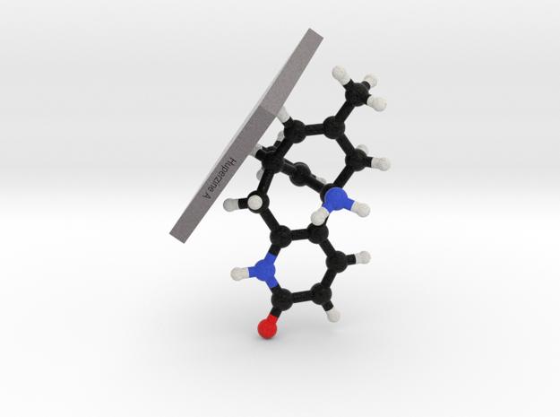 Huperzine A Molecule Model Mounted in Full Color Sandstone