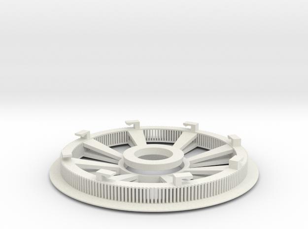 Belt disk right side 180ZHTD3M12mm 32 spokes in White Natural Versatile Plastic