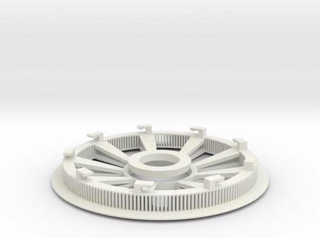 Belt disk right side 180Z HTD 3M 12mm 36 spokes in White Natural Versatile Plastic