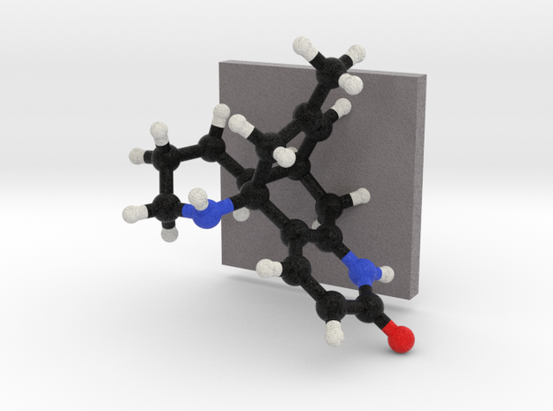 Huperzine B Molecule Model Mounted 3d printed