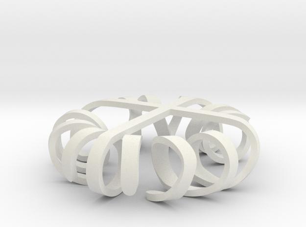 Sprawling Cross in White Natural Versatile Plastic