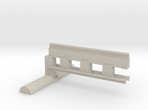 Bardford & Foster Brook Straight Track 3d printed