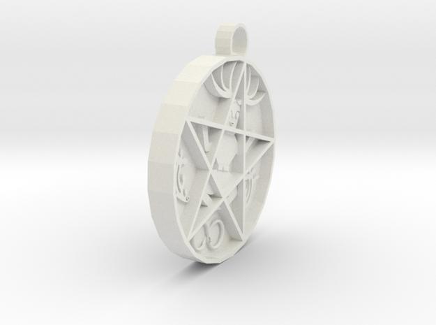 hex pendant agn in White Natural Versatile Plastic