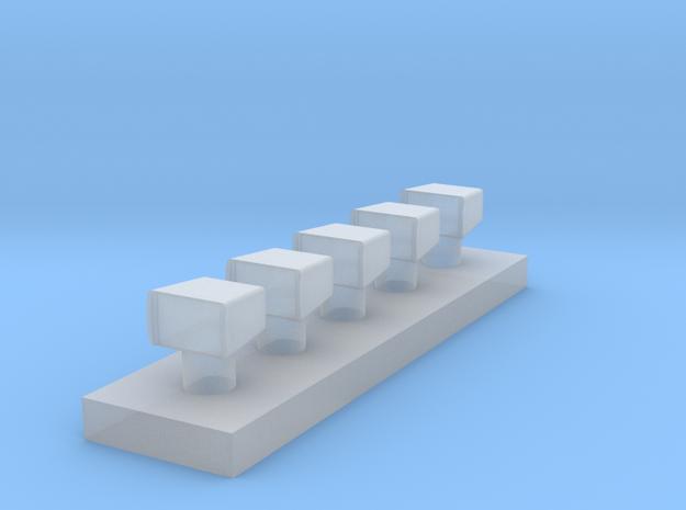 zoeklicht 5 stuks 1:87 in Smooth Fine Detail Plastic