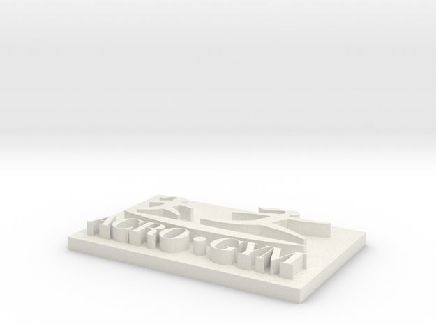ACROGYM LOGO 3D in White Natural Versatile Plastic