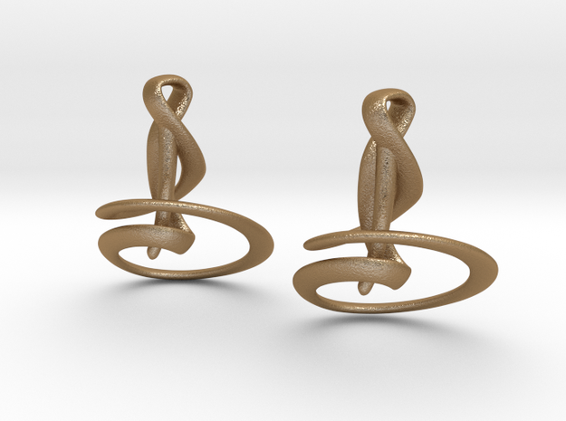 Calla Lily Earrings 3d printed