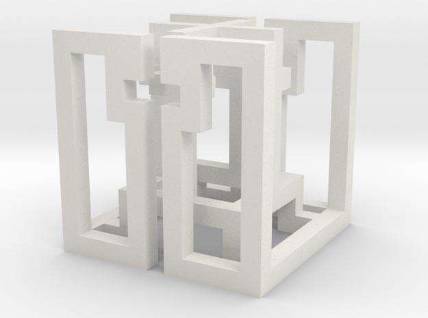 cube_07 in White Natural Versatile Plastic