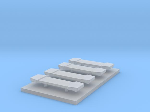 LED Lightbar 15 mm 4 stuks 1:87 in Smooth Fine Detail Plastic