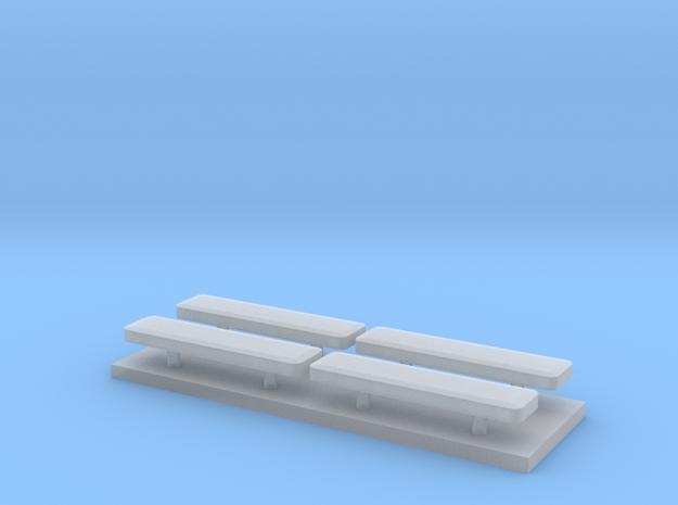 Whelen lightbar 14,6 mm 4stuks 1:87 in Smooth Fine Detail Plastic