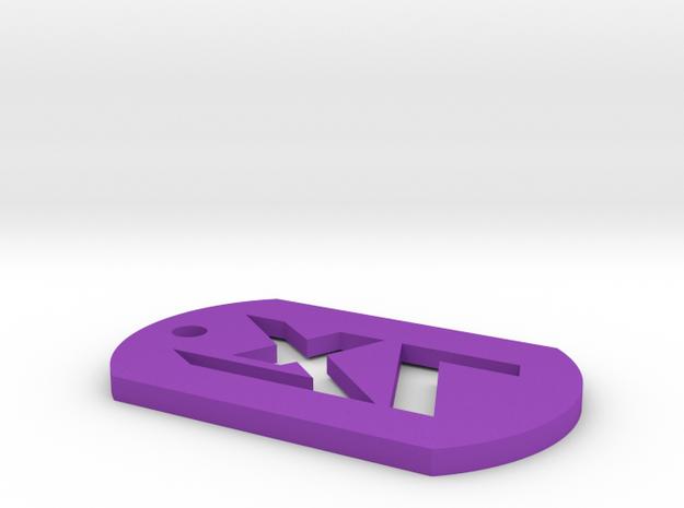 7XL Dogtag Embossed 3d printed