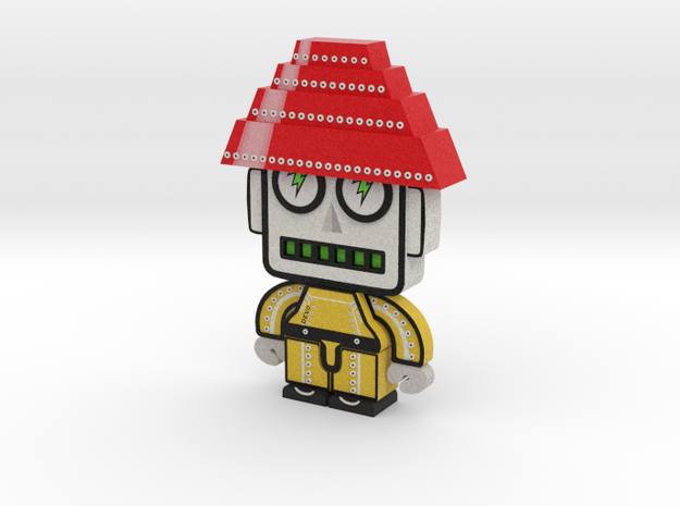 DevoBot Series 1 yellow bio suit Bob1 3d printed