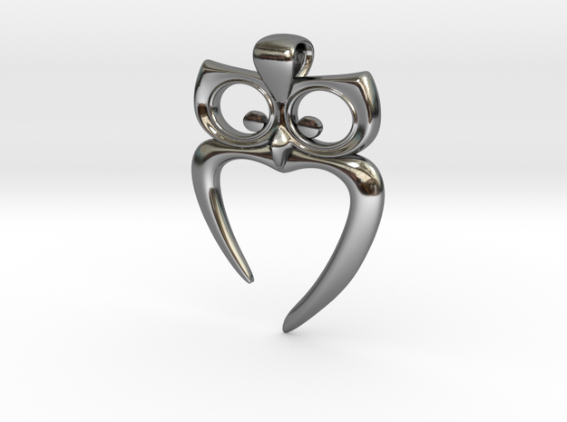 Owl Heart Pendant