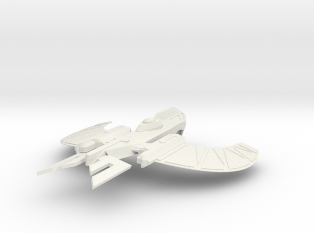 Romulan Nuleon Class in White Strong & Flexible