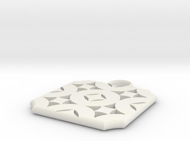 Earring by Tucker Creighton in White Natural Versatile Plastic