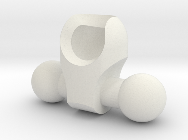 Low-rise Hip for ModiBot in White Natural Versatile Plastic