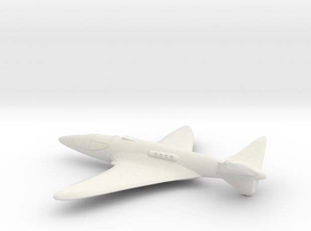 1/200 Bugatti 100 P in White Natural Versatile Plastic