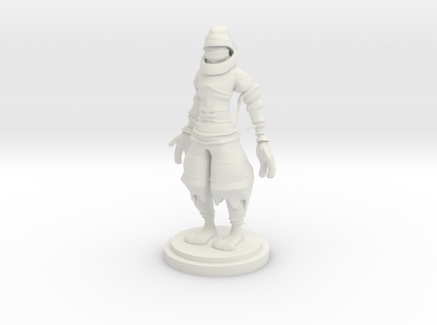 Ninja statue in White Strong & Flexible