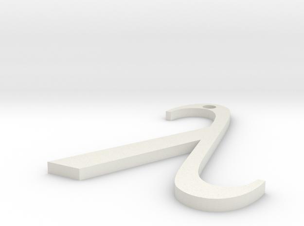 Lambda Pendant in White Strong & Flexible